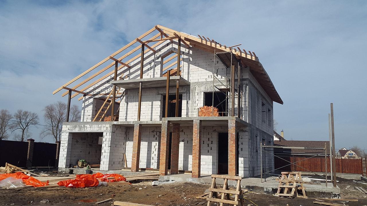 Строительство дома из газоблока