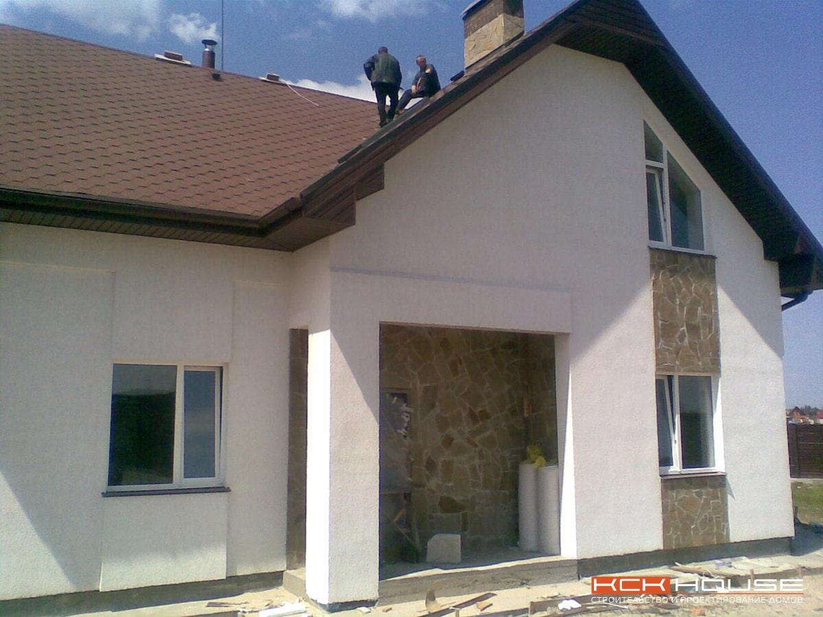 строительство дома из газоблока с. Рудыки