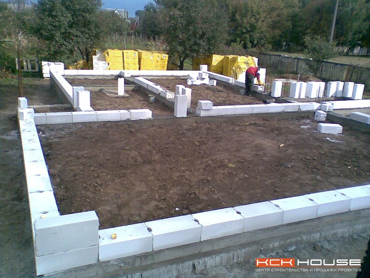 строительство дома из газоблока под Киевом