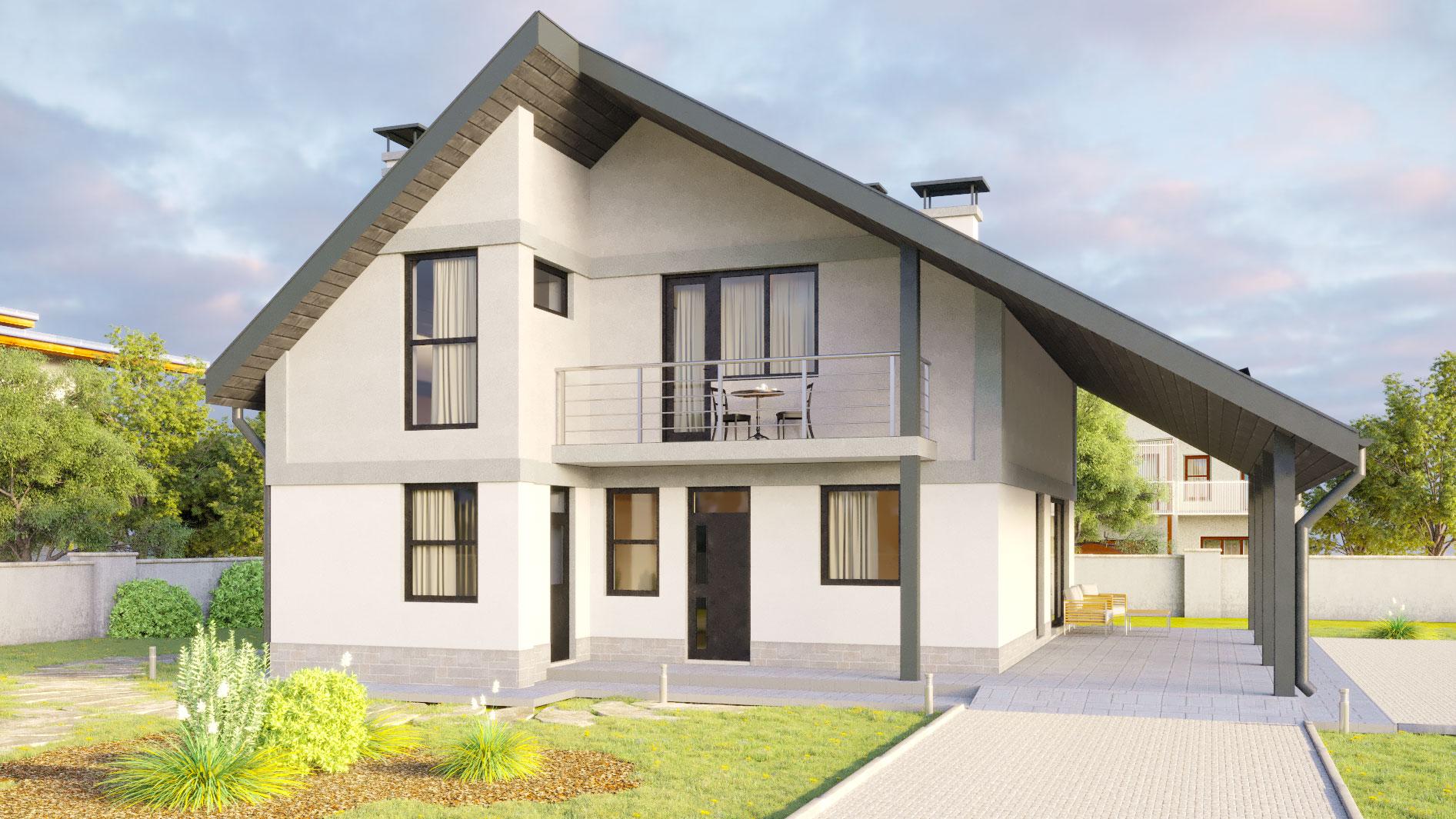 Проекти будинків з цегли: типові проекти будинків