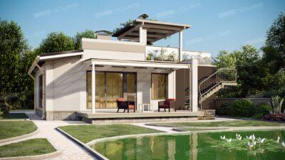 проект дома с плоской кровлей OLYMPIC HOUSE